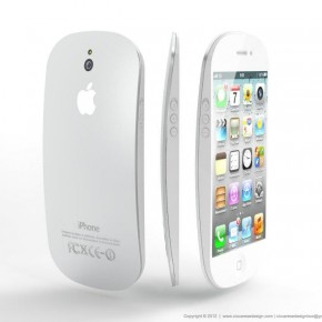 iPhone 5 met Magic Mouse trekjes