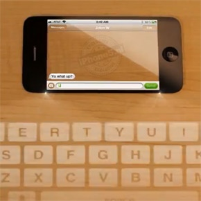 iPhone 5 concept met transparant scherm (commercial)