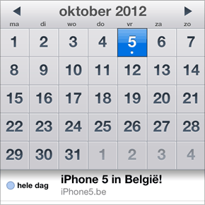 iPhone 5 in België: 5 oktober 2012