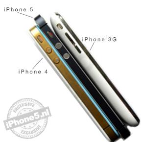 iPhone 5 wordt iets langer en dunner dan zijn voorgangers (vergelijking)