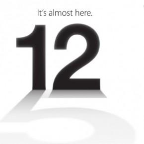 12 september met in de schaduw een hint naar de iPhone 5